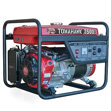 Amazon.com : Tomahawk Power 7500 Starting Watts, Gas Powered ...