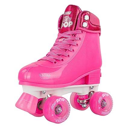 Roller Skates Amazon Com >> Crazy Skates Adjustable Roller Skates For Girls And Boys Glitter Pop Collection