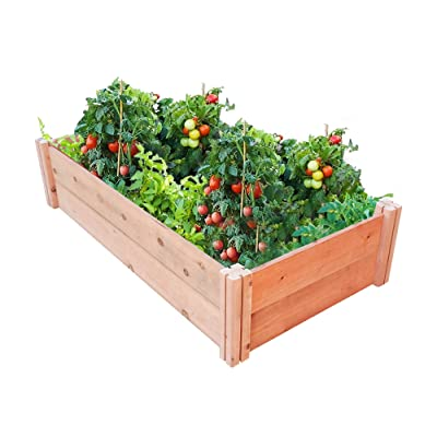 """GroGardens 2' x 4' x 11"""" Redwood Raised Garden Bed, Grow Fresh Vegetables, Herbs, Flowers. Chemical Free, All Natural, Organic Raised Garden Bed, Tool-Free, No Tools Required. : Garden & Outdoor"""