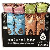 Barritas Energéticas 4 Sabores Natural Athlete Sin Azúcar Añadido, 100% Natural, Sin Gluten, Vegana, Sin Aceite de Palma…