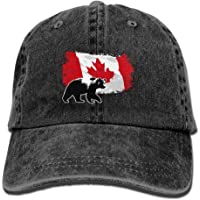 Yuting Gorras béisbol Canada Maple Bear Denim Hat