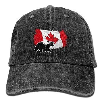 Yuting Gorras béisbol Canada Maple Bear Denim Hat Adjustable Female Baseball Caps: Amazon.es: Deportes y aire libre