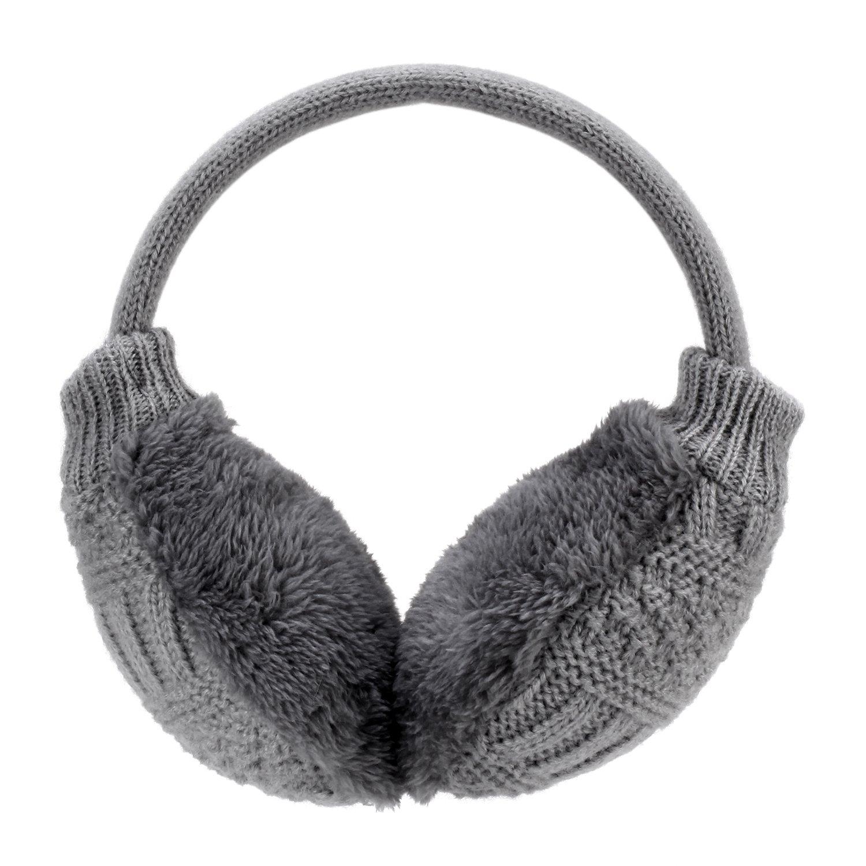 Hey Song donne inverno caldo a maglia in finta pelliccia paraorecchie paraorecchie regolabile lavabile