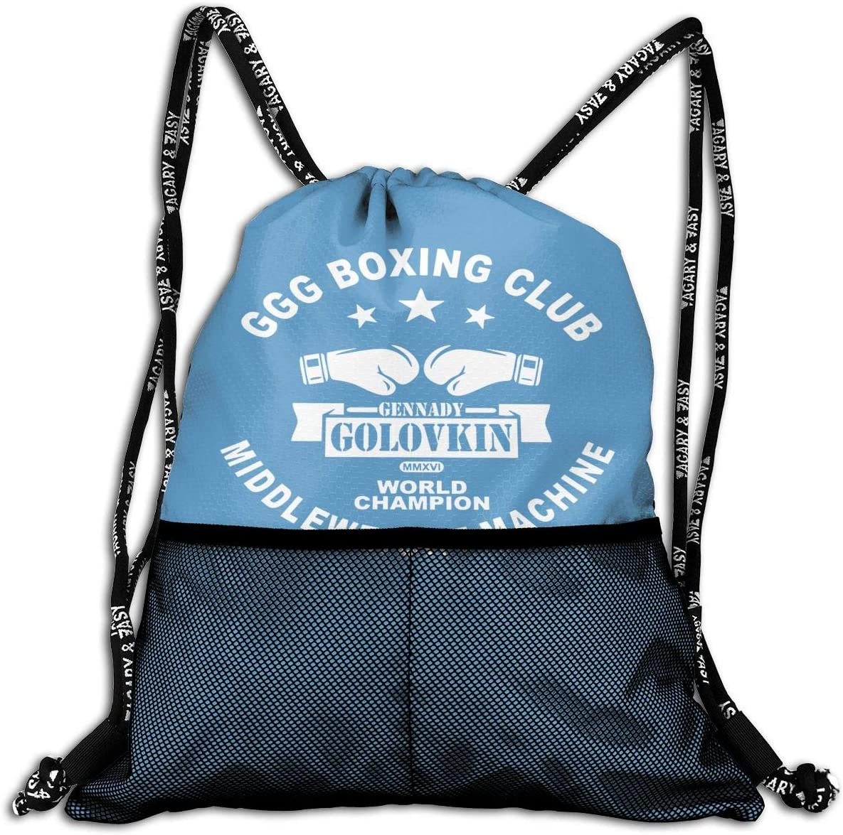 Drawstring Backpack Gennady-Golovkin Logo Sport Gym Hiking Yoga Travel Beach Bundle Backpack
