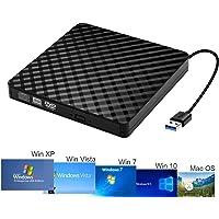 NISUN Slim Portable Optical USB 3.0 CD DVD-RW Drive, External CD/DVD-RW Writer Burner Drive for Laptop and Desktop PC