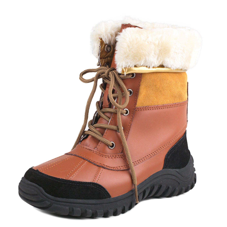 Shenduo Bottes DA5469 de 19900 Neige B07D5GC4S3 Femme Imperméables, Après-Ski à Lacets Antidérapant, Boots d' Hiver Doublure Chaude Mixte Adulte DA5469 Marron/Jaune a37964f - piero.space