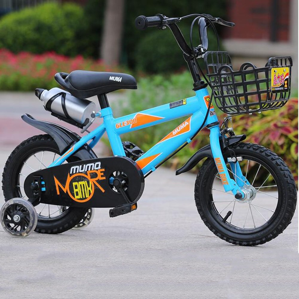 HAIZHEN マウンテンバイク キッズバイク12インチ、14インチ、16インチ、18インチ、ボーイバイク&ガールズバイク、子供向けギフト 新生児 B07CC4WXWQ青 16 inch