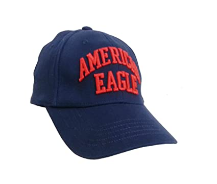 American Eagle Outfitters Navy W Red AMERICAN EAGLE Logo Baseball CapS M