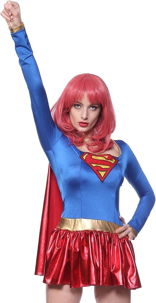 Maboobie - Disfraz de Superwoman Supergirl sexy hero Para Mujer ...