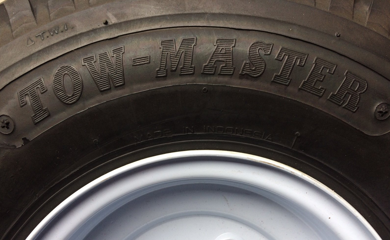 Towmaster 4.80-8 LRC/6 Ply Tire with 4 lug 8'' wheel