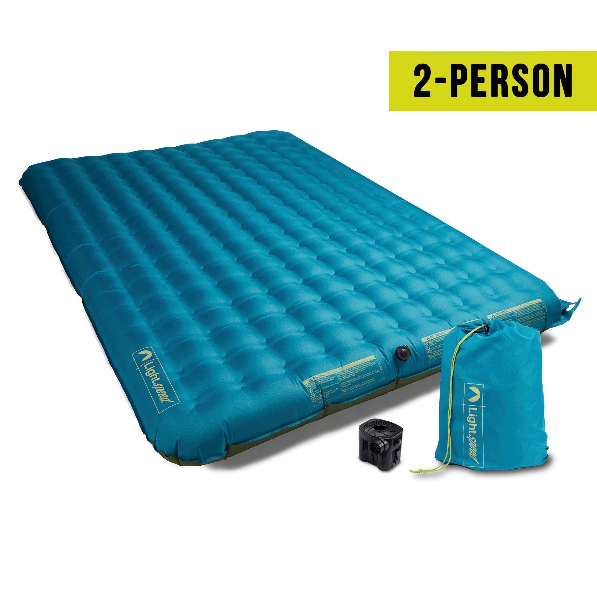 Lightspeed Outdoors 2 Person PVC-Free Air Bed Mattress (Ocean Depth) by Lightspeed Outdoors