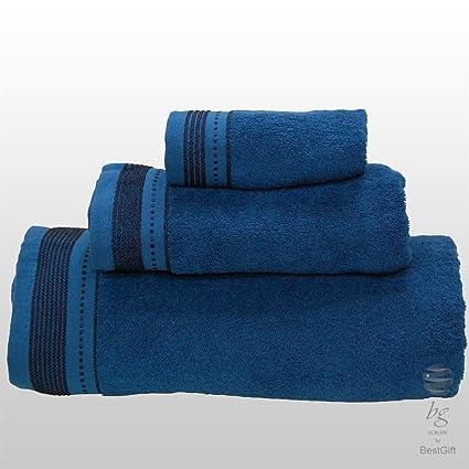 Calidad Superior Plain juego de toallas de baño - 3 piezas - Ref. Aloé -