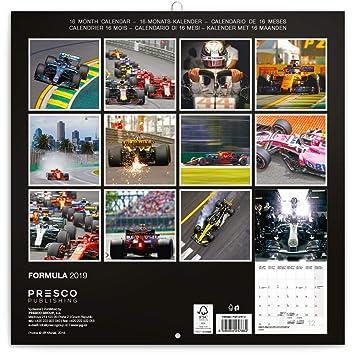 Formula 1 Calendario.Formula 1 One 2019 Calendar Grand Prix Wall Square 30cm X 30cm New And Sealed