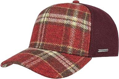Stetson Gorra Virgin Wool Check Mujer/Hombre - de Beisbol Invierno ...