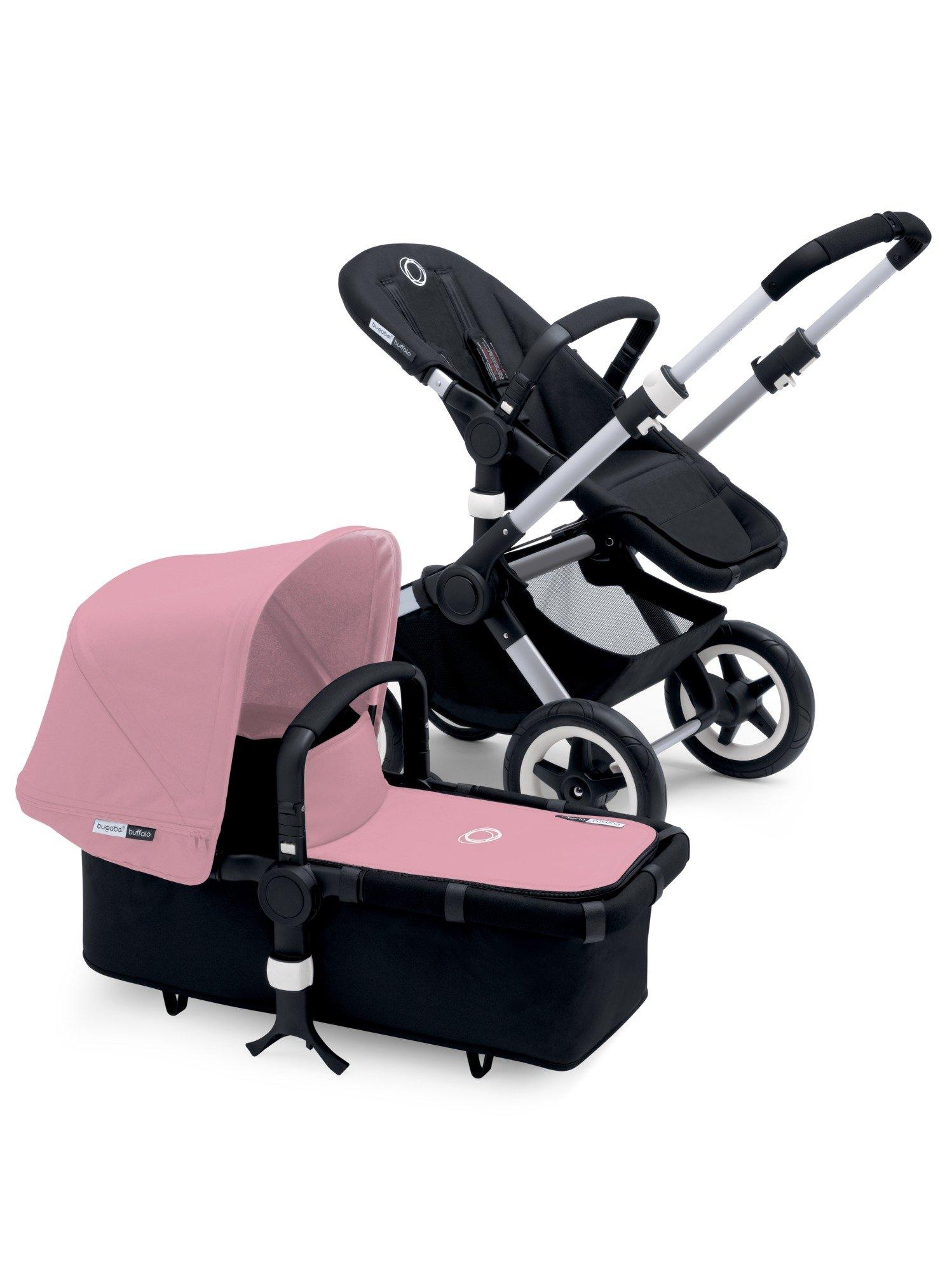 Bugaboo Buffalo Complete Stroller - Soft Pink - Black