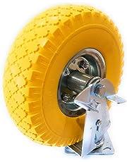 Ruedas giratorias de 10 pulgadas + frenos, ruedas de transporte, ruedas de goma maciza