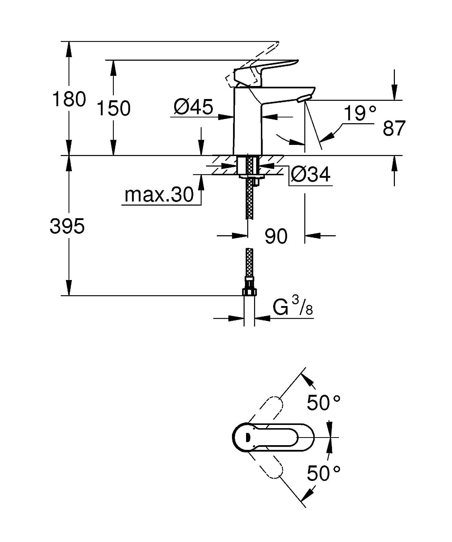 BauEdge Basin Mixer Tap GROHE 23330000
