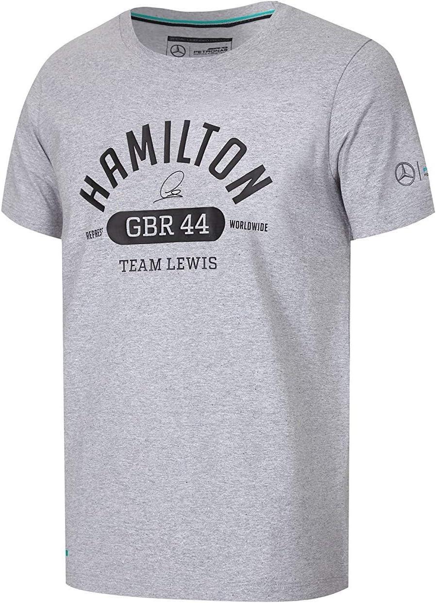 Mercedes AMG Petronas F1 Lewis GBR Equipo Lewis Camiseta – Gris: Amazon.es: Deportes y aire libre