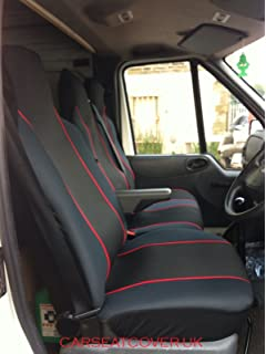 DOUBLE Ford Transit Custom New Shape DELUXE BLUE PIPING VAN SEAT COVERS SINGLE