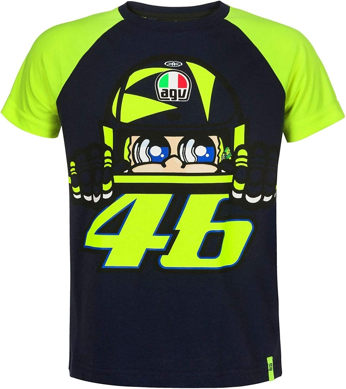 Valentino Rossi VR46 Kid Cupolino T-Shirt Blue 4/5: Amazon.es ...