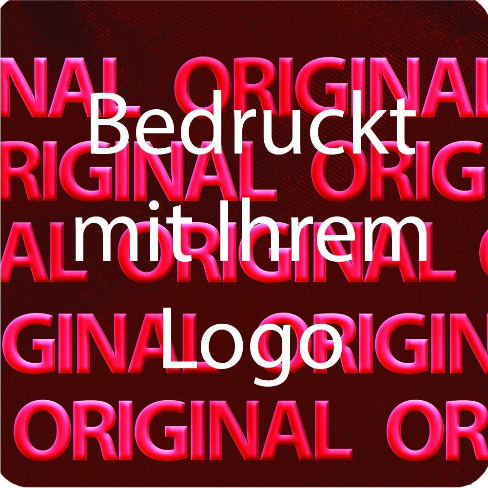 EtikettenWorld BV, EW-H-2300-14-tw-700, 700 Stück Hologrammaufkleber, 2D, 10x10mm rotfarbige Metallfolie, bedruckt in weiß mit Ihrem Wunschtext Logo, Hologramm Etiketten, selbstklebend, Hologramm Aufkleber, Sicherheitssiegel, Garantiesiegel, Ga