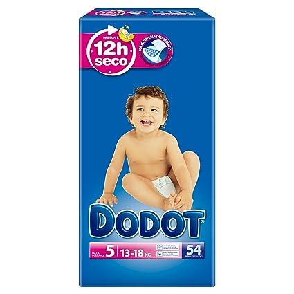 Dodot - Pañales talla 5 (13-18 kg), 3 Paquetes x 54