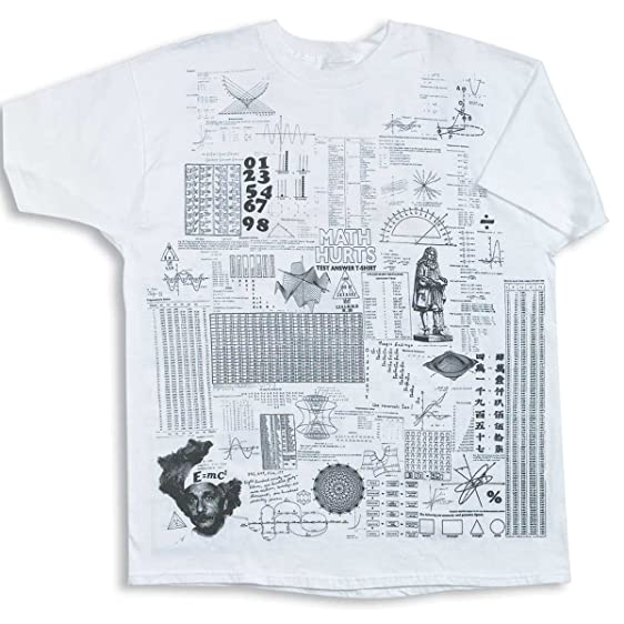 Amazon.com: ComputerGear Math Cheat Sheet T Shirt Crib Sheet ...