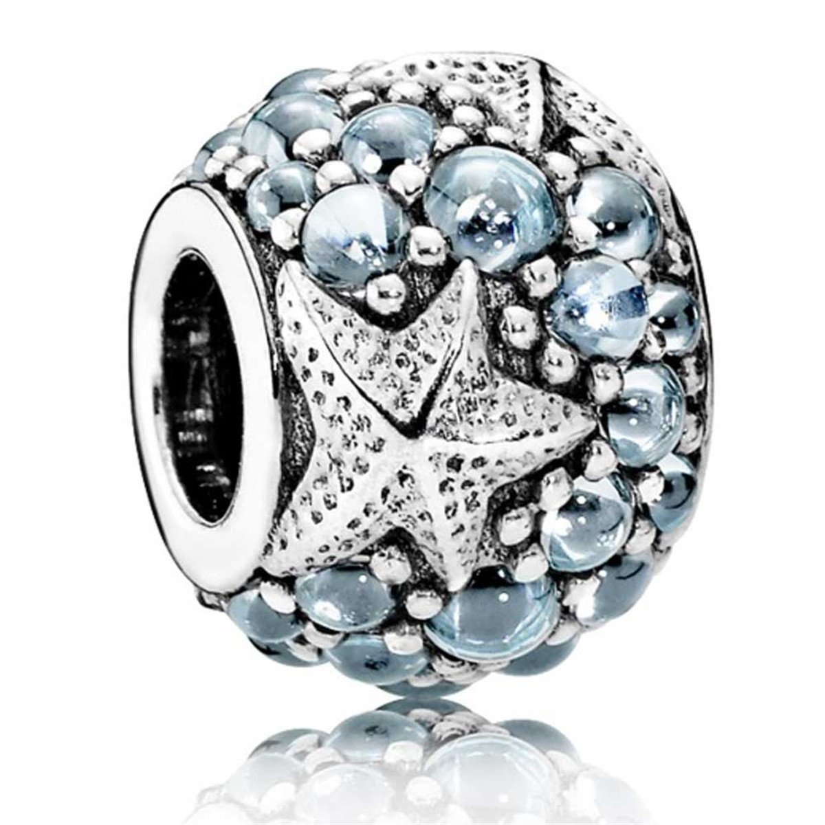 Fit Pandora Oceanic Blue Starfish Sterling Silver Charm 791905CZF