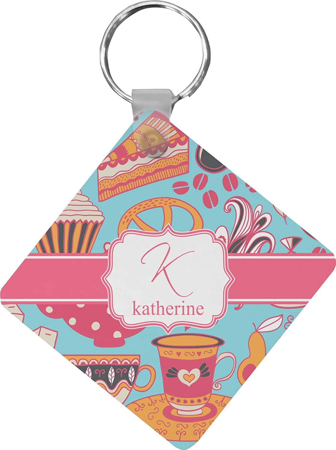 Dessert & Coffee Diamond Key Chain (Personalized)
