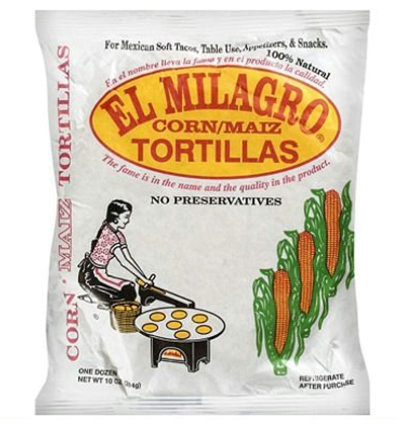 El Milagro, Tortilla Corn, 10 ounce (16 Pack) by El Milagro