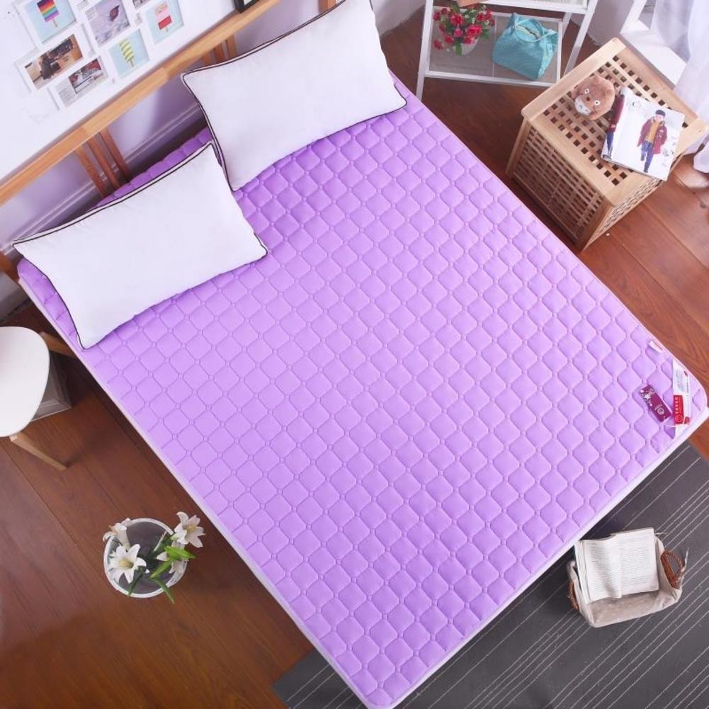Breathable Ultra-Thin Mattress, Summer Cool Double Sleeping mat Tatami Floor mat Soft Comfortable Non-Slip Mattress-White 59x79inch SKKGN