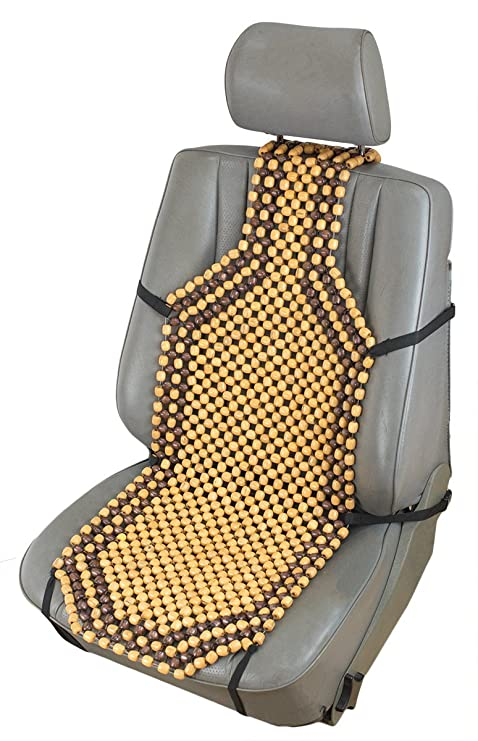 ObboMed SW 7210 Natural Wooden Beaded Car Seat Cover 08mm Pure Nylon String