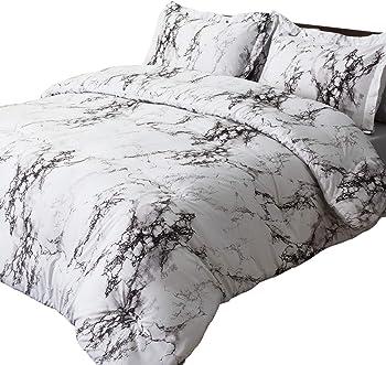 3-Piece Bedsure Marble Printed Comforter Set