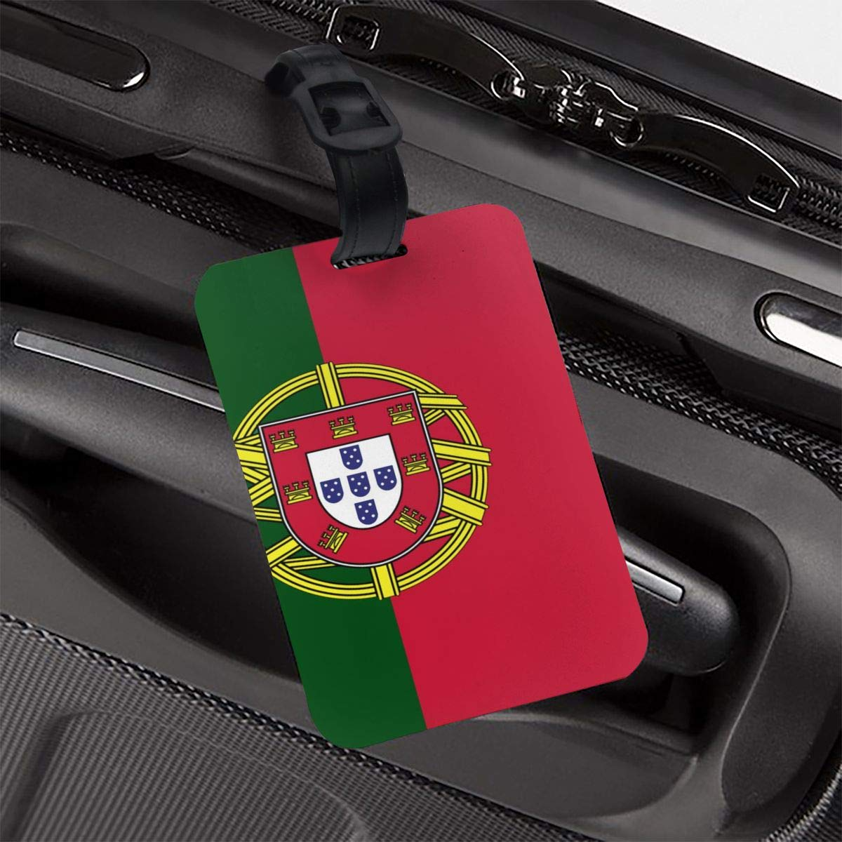 NB UUD Portugal Flag Travel Luggage Tag Cool Employees Card Luggage Tag Holders Travel ID Identification Labels for Baggage Suitcases Bags