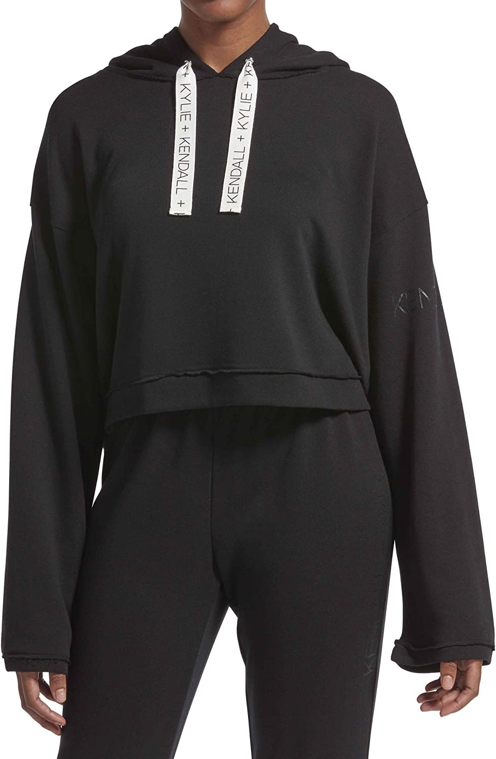 Kendall + Kylie Women's Lounge Cropped Hoodie