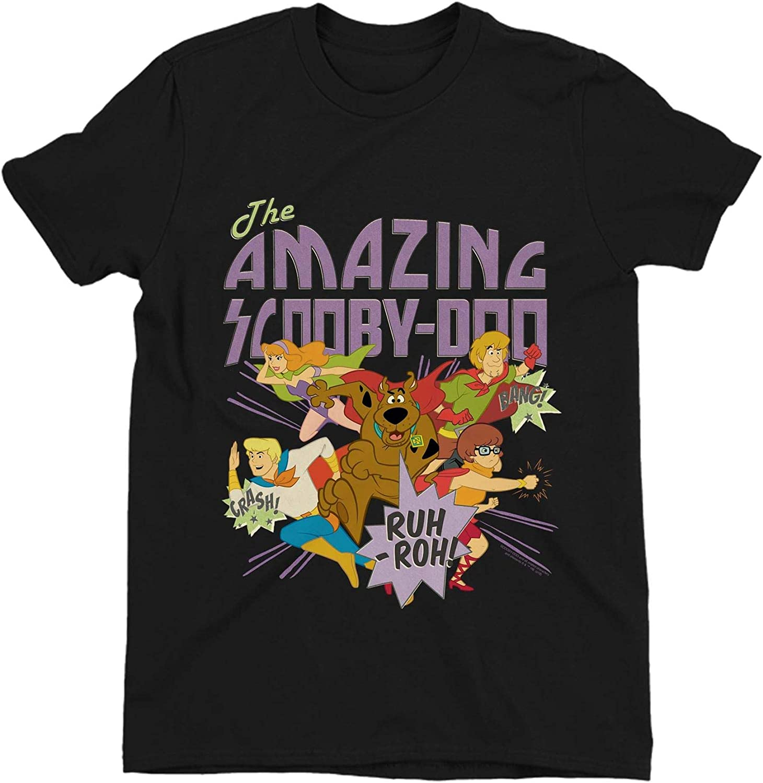 The Amazing Scooby Doo Childrens Unisex Black T-Shirt