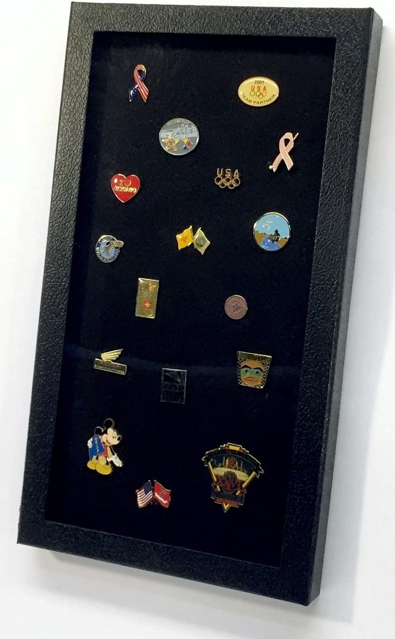 Pin Collector's Display Case - for Disney, Hard Rock, Olympic, Political Campaign & other collectible pins and medals - holds up to 100 pins - felt-covered backing with handy magnetic closure
