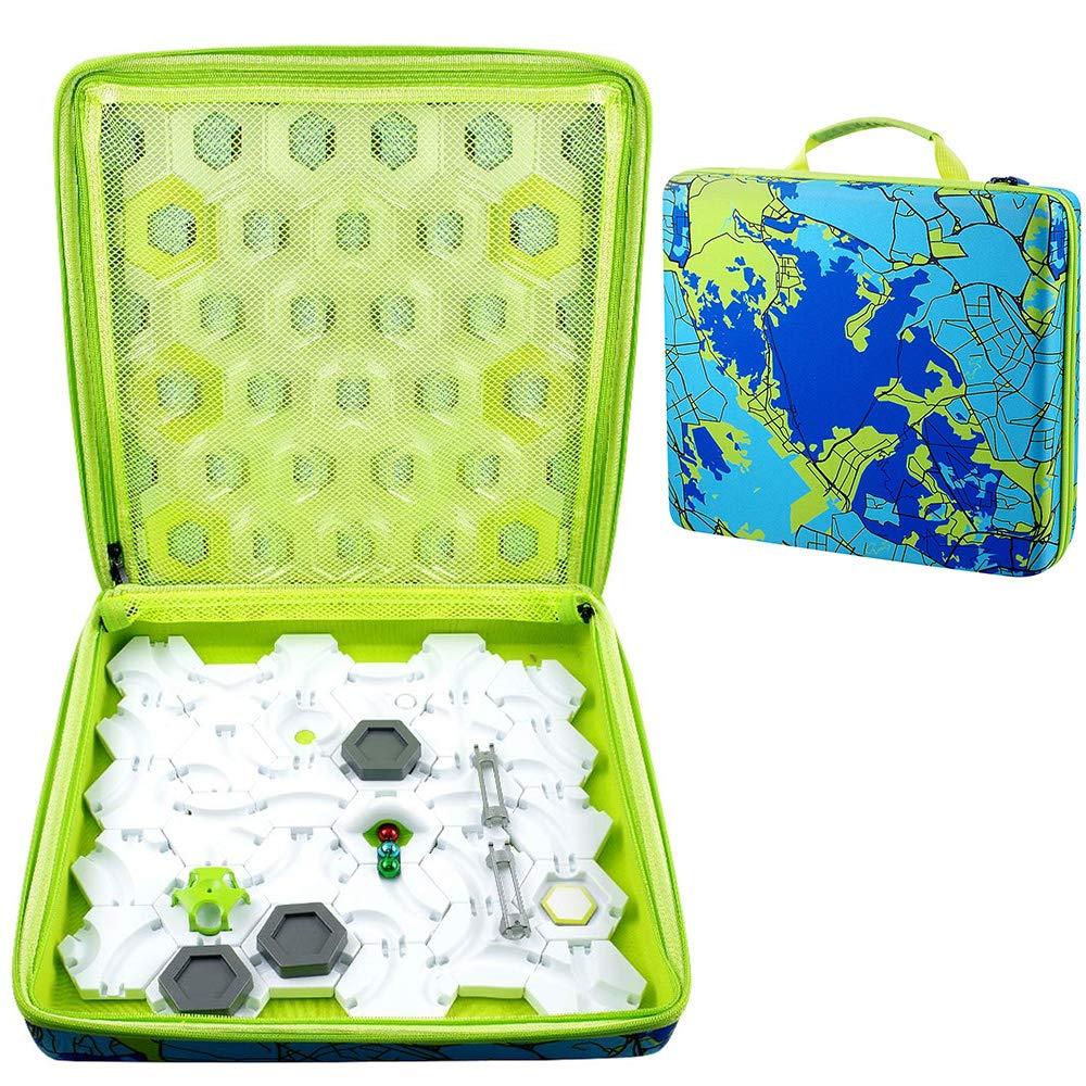 Alkoo Storage Organizer Case Compatible für Gravitrax Marble laufen und Stem Toy, Starter-Set, Accessories, Expansion Sets - Psychedelic