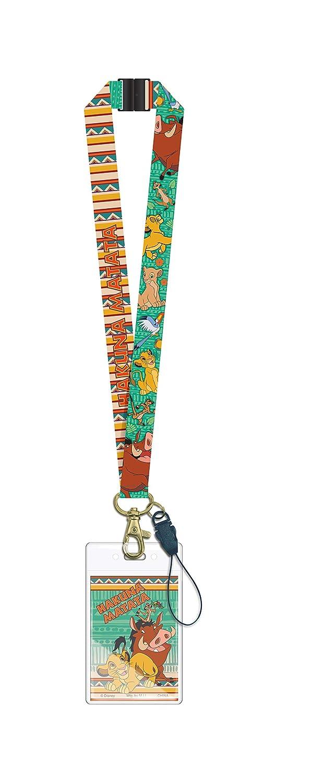 Disney Men's Lion King Lanyard Commuter Pass Case, Golden Rod, Standard