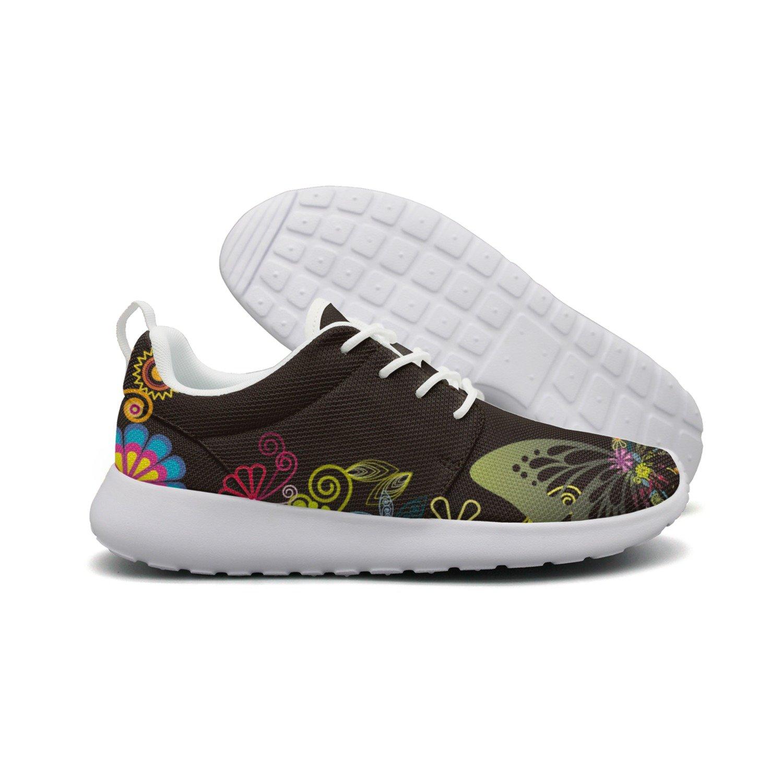 Butterfly And Flower Art Women New Design Running Shoes Jogger Active