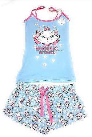 3561866f2106b Ladies Girls Disney Aristocat Marie Womens Cotton Cami Vest Top   Shorts 2  Piece Set S-M-L