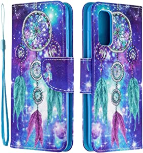 ISADENSER for Galaxy A51 5G Case Samsung A51 5G Case [Wallet Stand] Painting Design Flip Notebook PU Leather Case with Magnetic Close Card Slots Pouch Case for Samsung Galaxy A51 5G Dreamcatcher HX