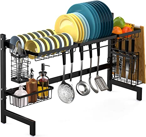Dish Dryer Rack Steel BATHWA Large Over The Sink Dish Drainers Dish Drying Rack