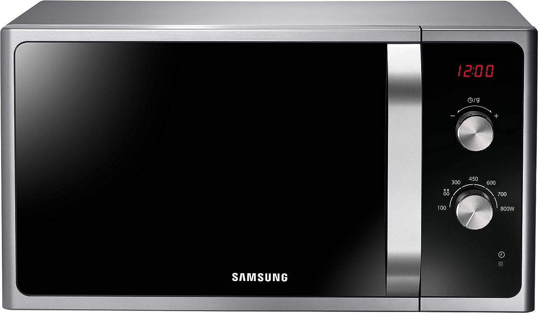 Samsung MWF300G MS2AF300EES/EG - Microondas (800 W, 23 L, 48,9 x 6 velocidades, descongelación automática), color plateado