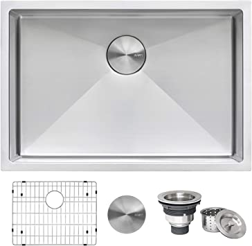 Ruvati 26 Inch Undermount 16 Gauge Tight Radius Stainless Steel Kitchen Sink Single Bowl Rvh7126 Amazon Com
