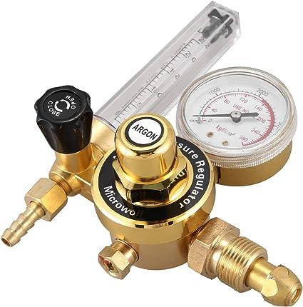 Regolatore di pressione CO2 G5//8 Regolatore per bombola di gas CO2 Riduttore di pressione per saldatura ad anidride carbonica Valvola di riduzione della pressione in lega di zinco CO2