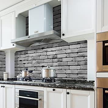 Amazon.com: Subway Tile, Seavish Shabby Travertine Kitchen ...