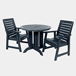 product image for highwood AD-DNW36-FBE Weatherly 3-Piece Round Dining Set, Federal Blue