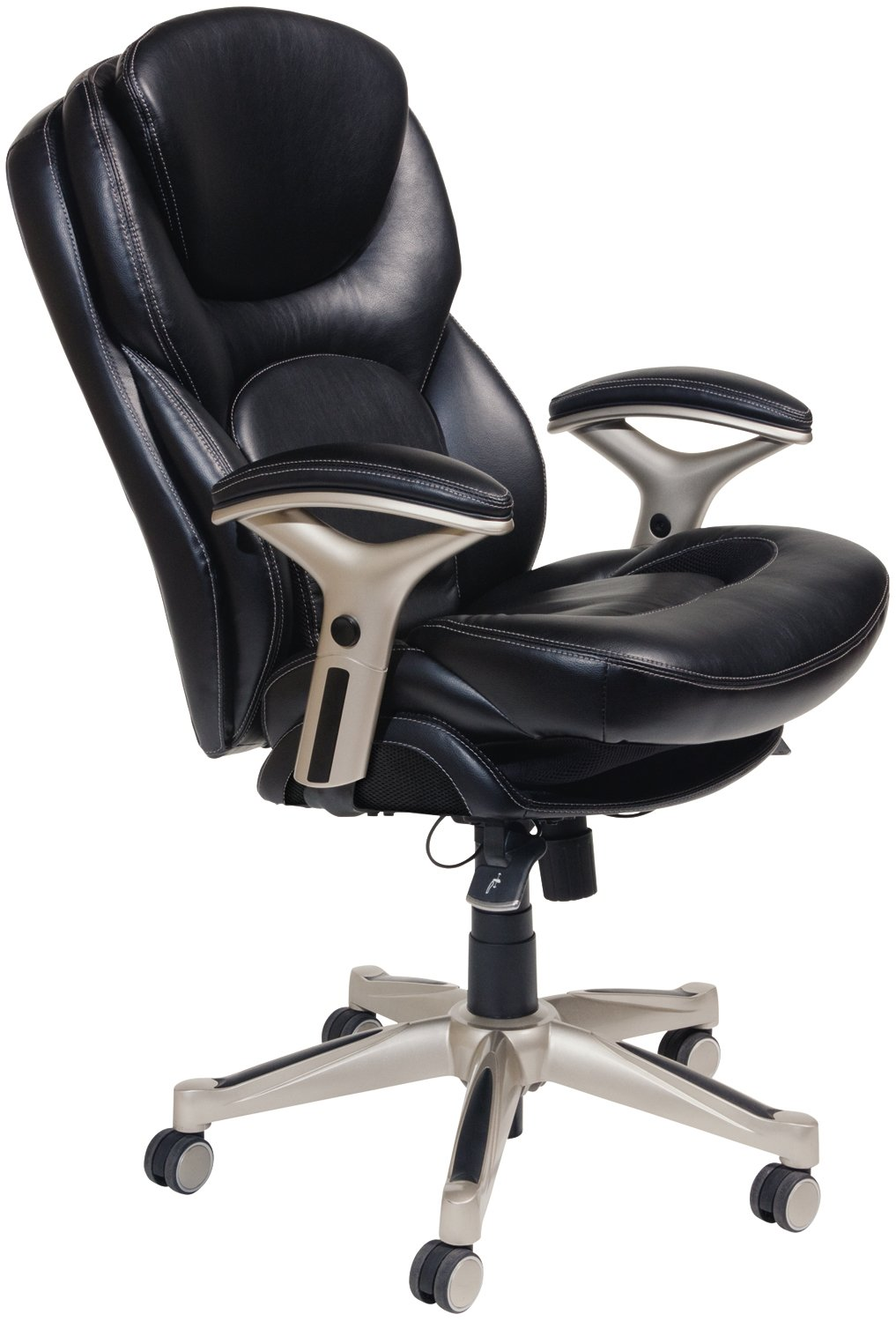 office recliner chairs. Amazon.com: Serta Works Ergonomic Executive Office Chair With Back In Motion Technology, Black Bonded Leather: Kitchen \u0026 Dining Recliner Chairs