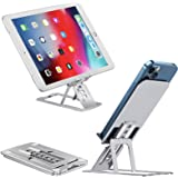 DDF iohEF Cell Phone Stand, Adjustable Increase Fully Foldable Thick Aluminum Alloy Desktop Phone Holder Compatible with All
